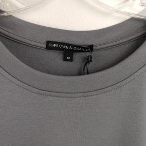 Harlow & Graham Tops - Harlow & Graham Pompom Applique Knit Top Gray